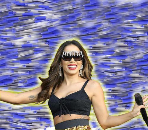 """Anitta fará regravação do hit """"Caneta Azul"""""""