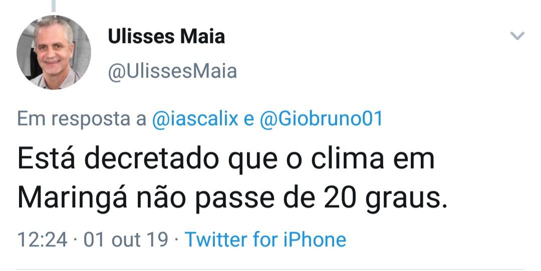 Prefeito de Maringá lança decreto contra o calor