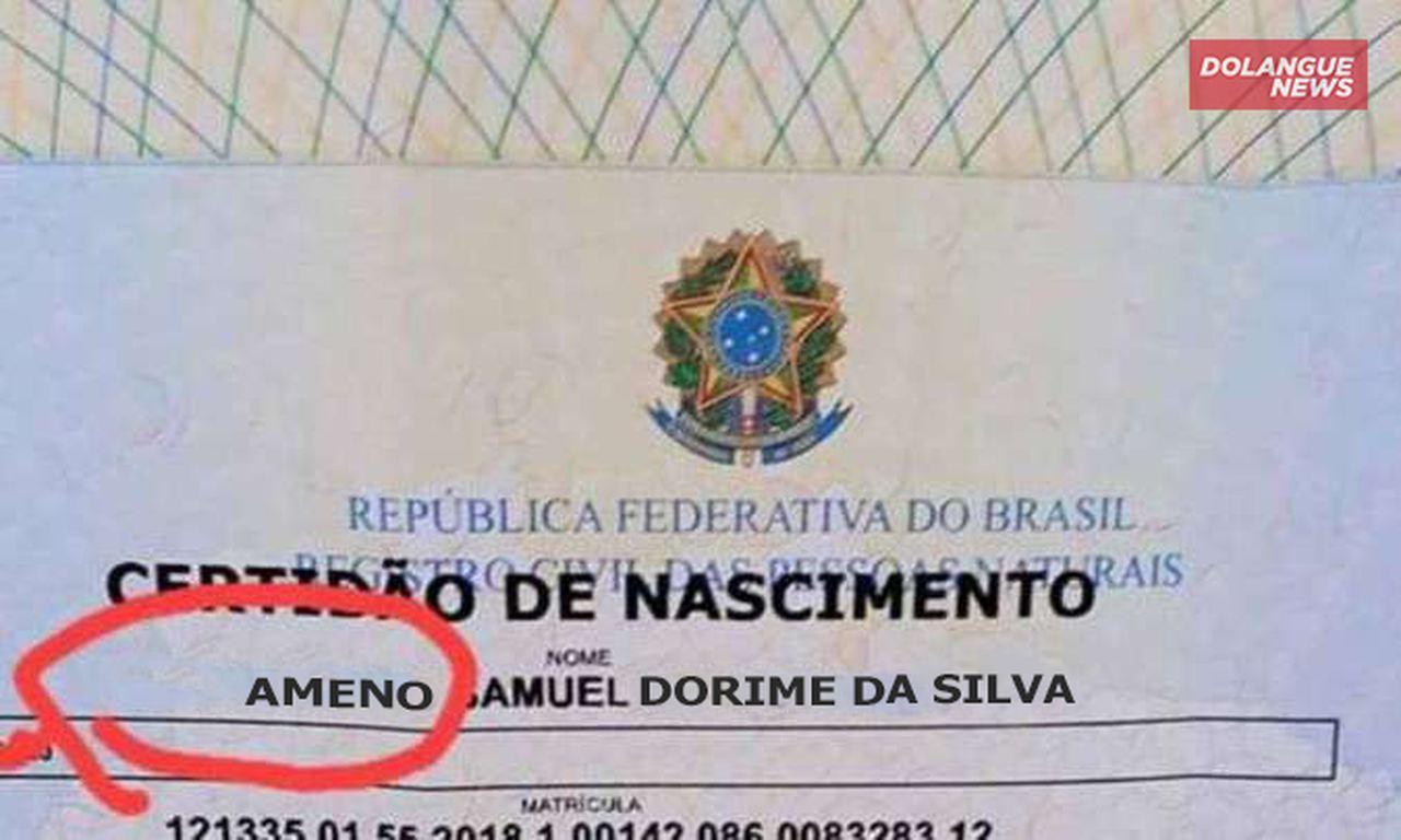"""Curitibano registra o nome de seu filho de """"Ameno"""""""