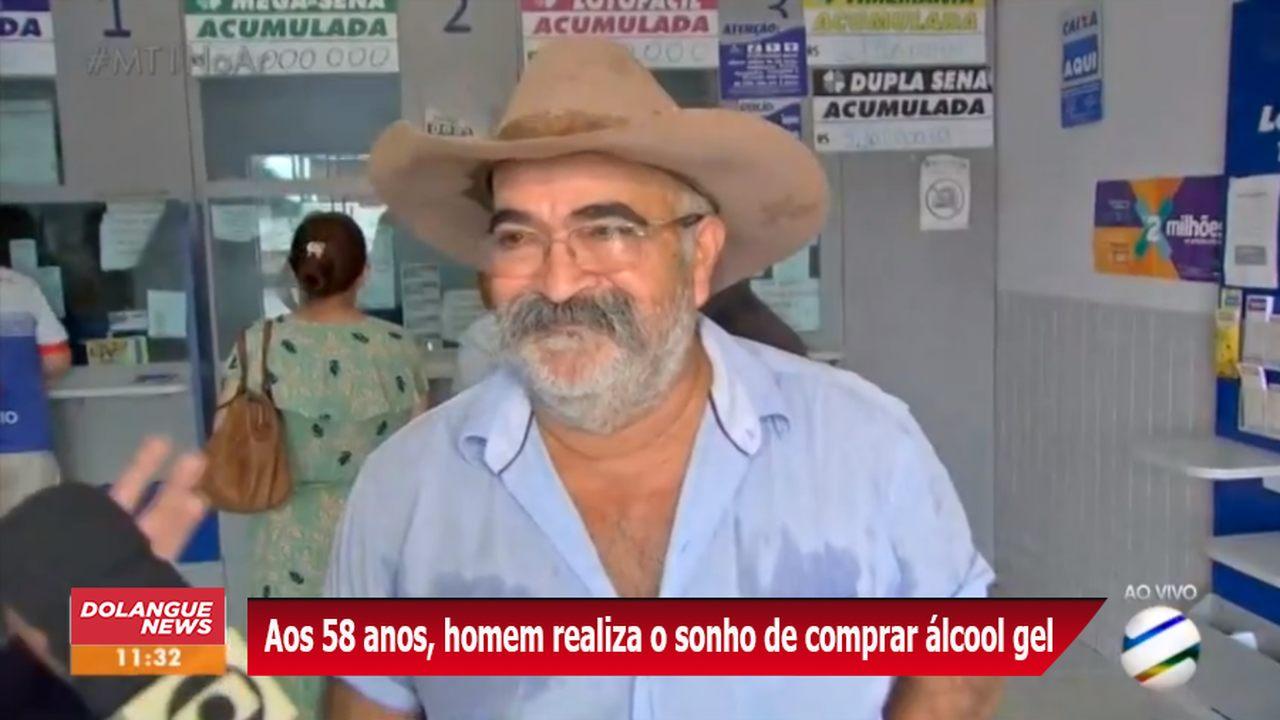 Após ganhar na mega-sena, homem consegue comprar álcool gel