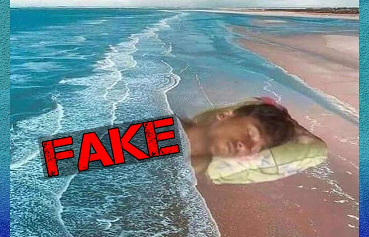 Imagem de Messi furando a quarentena na praia de caiobá é fake