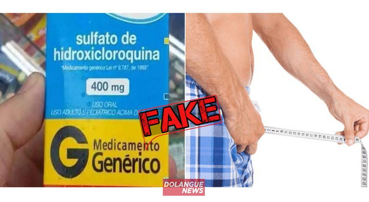 É #Fake que cloroquina aumenta o tamanho do pênis