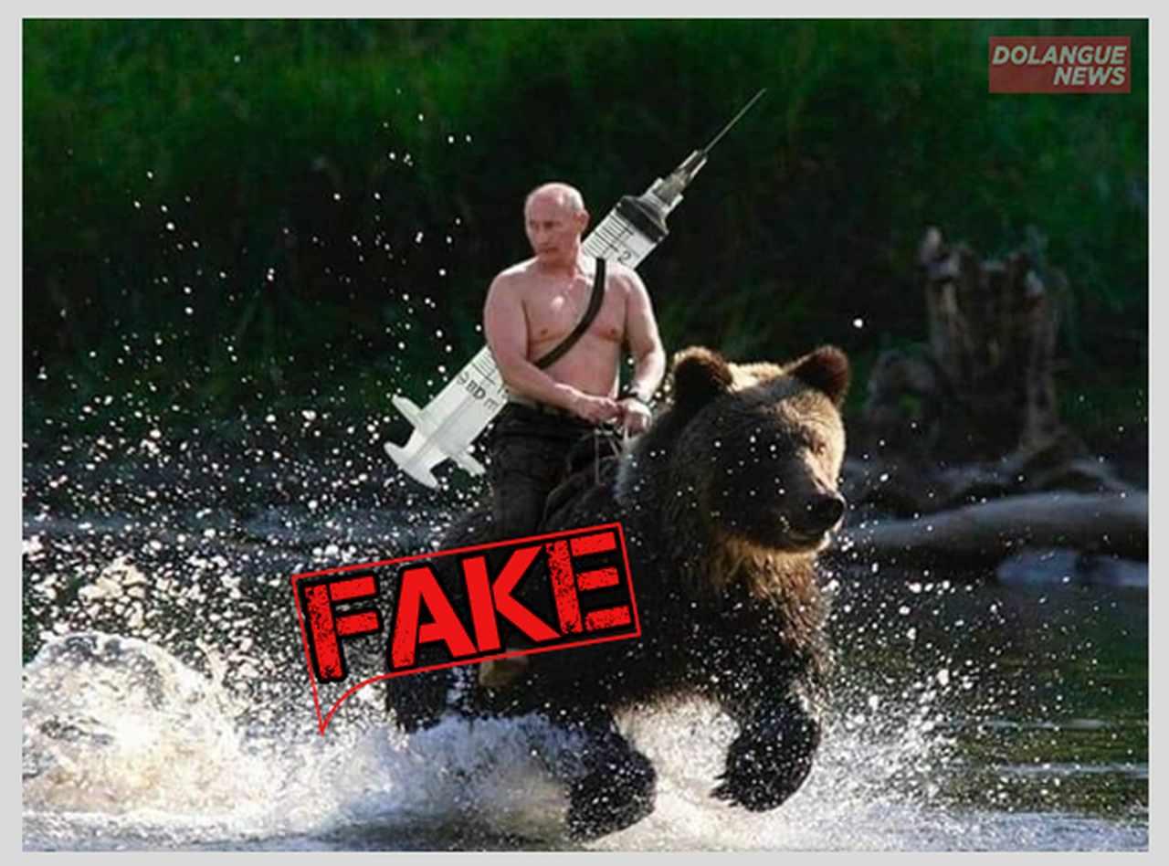 Imagem de Putin trazendo vacina ao Paraná montado em urso é fake