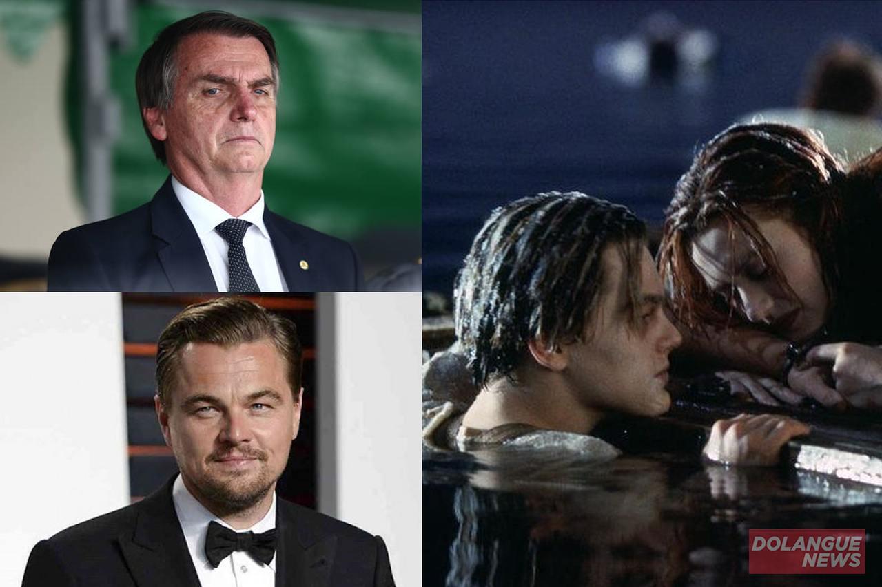 """Bolsonaro volta a criticar Leonardo DiCaprio e dispara: """"A Rose estava certa"""""""