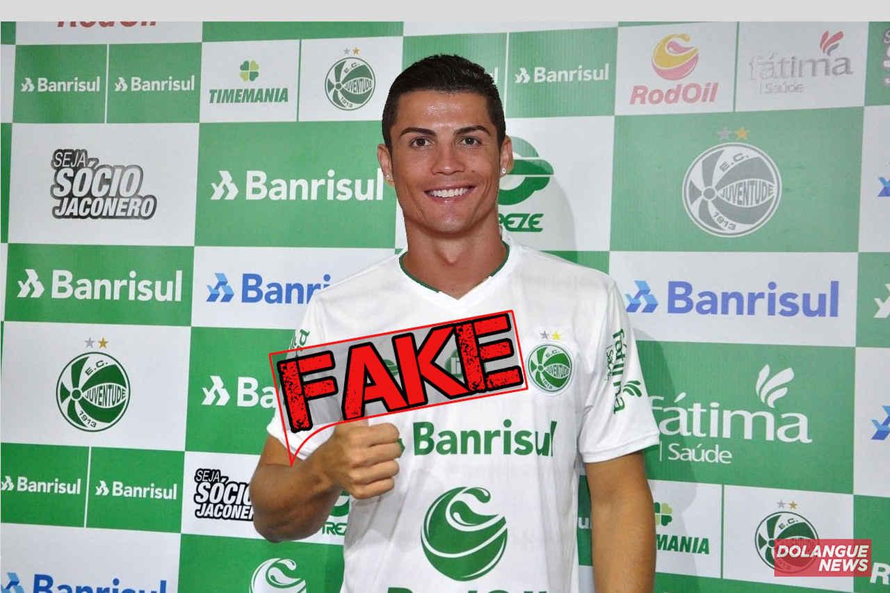 É #fake que Cristiano Ronaldo atuará pelo Juventude em 2021