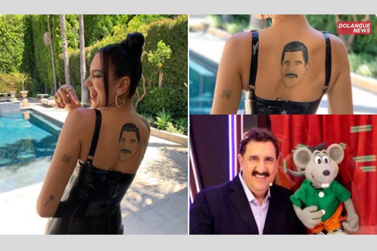"""Fã de Ratinho, Dua Lipa tatua rosto do apresentador e dispara: """"Rapaaaz"""""""