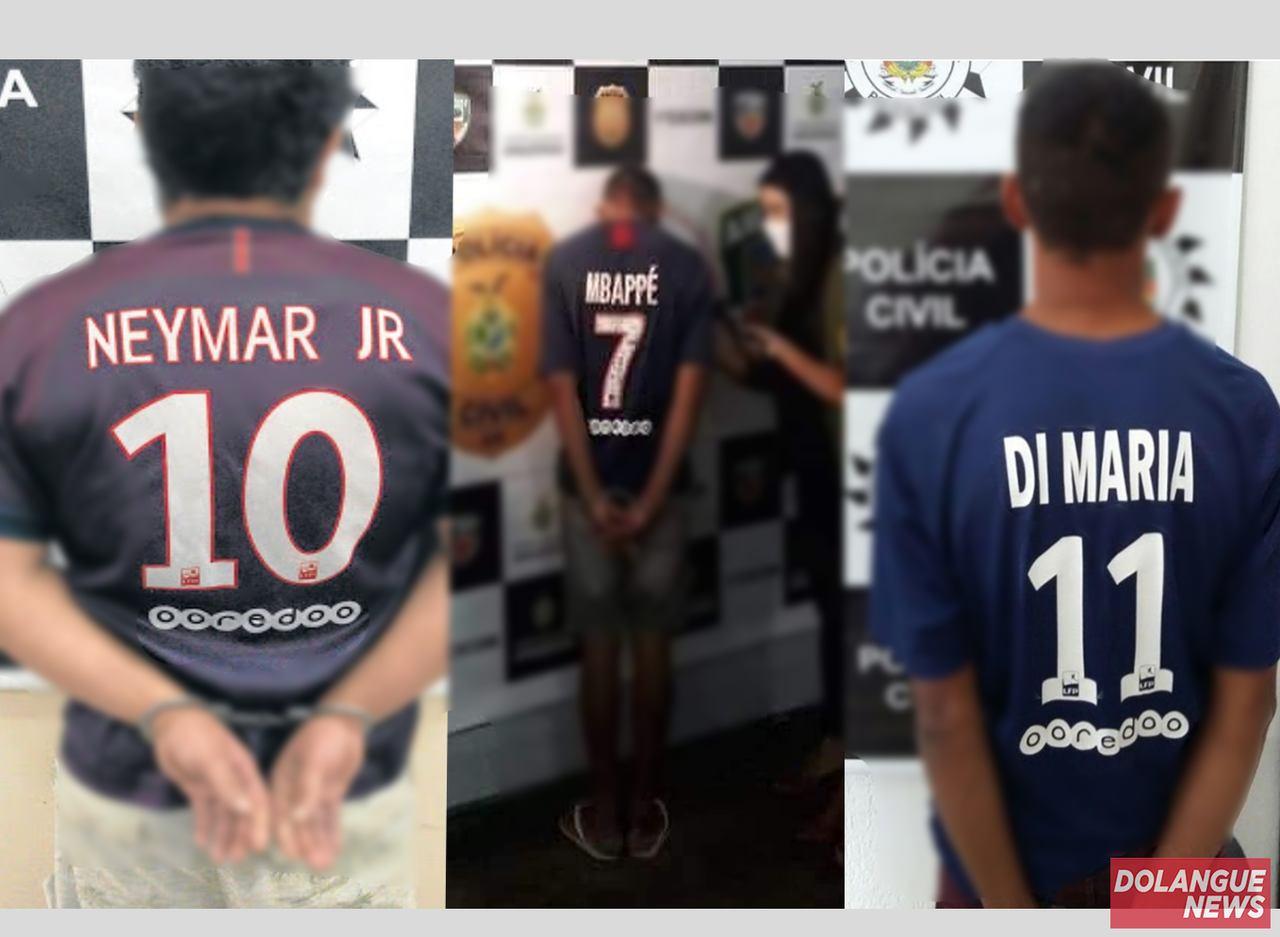 Neymar, Mbappé e Di Maria são presos um dia antes da final