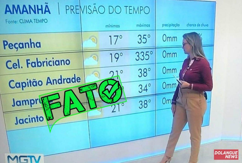É #Fato que a cidade de Coronel Fabriciano registrou temperatura de 335ºC