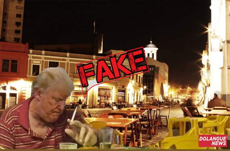 É #Fake imagem de Trump cabisbaixo no Largo da Ordem em Curitiba