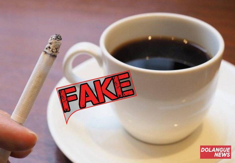 É #Fake que cigarro com café preto pode curar coronavírus