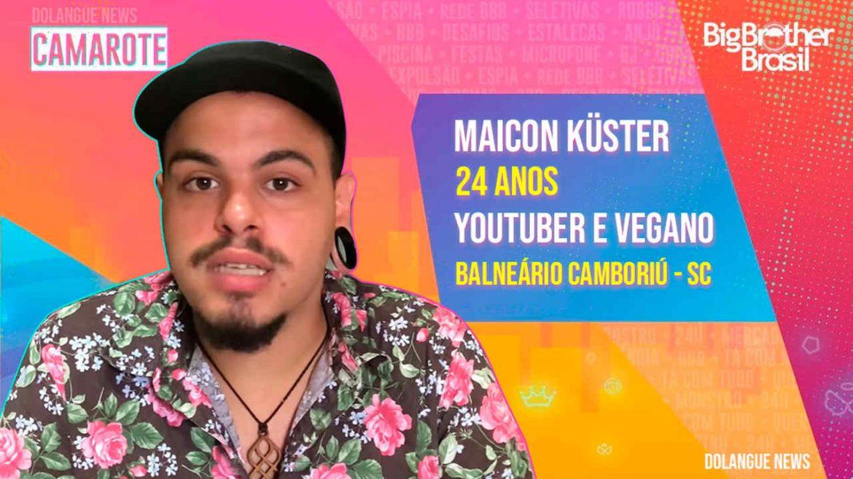 Conheça Maicon Küster: Youtuber, vegano e rapper confirmado no BBB21