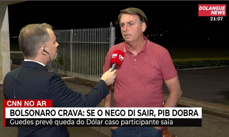 "Bolsonaro crava: ""Se o Nego Di sair, PIB dobra"""
