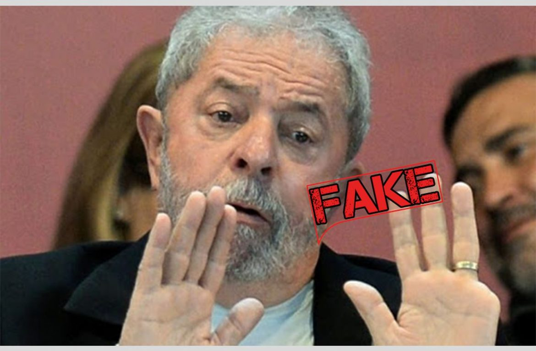 É #Fake que Lula perdeu um dos dedos de tanto votar em Nego Di