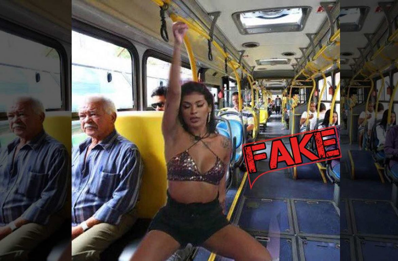 Imagem da cantora Pocah no Centenário/Campo Comprido em Curitiba é #Fake