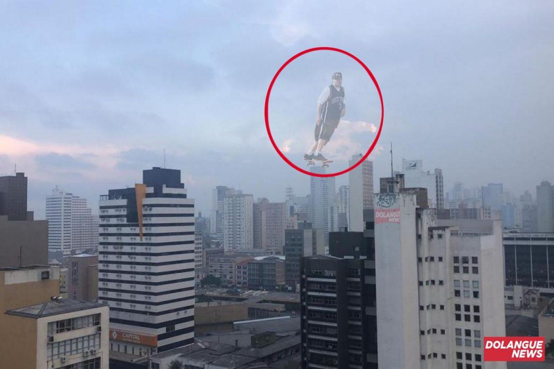 Fumaça em Curitiba teria sido gerada por manobras de Chorão no céu, dizem meteorologistas